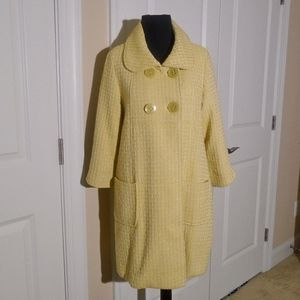 FOREVER 21 Cotton Tweed Swing Coat M Fits Size S